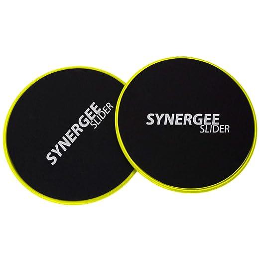 Ger/ät f/ür Bauchtraining Beidseitige Verwendung auf Teppich oder Hartholzb/öden Synergee Gleitscheiben Core Sliders