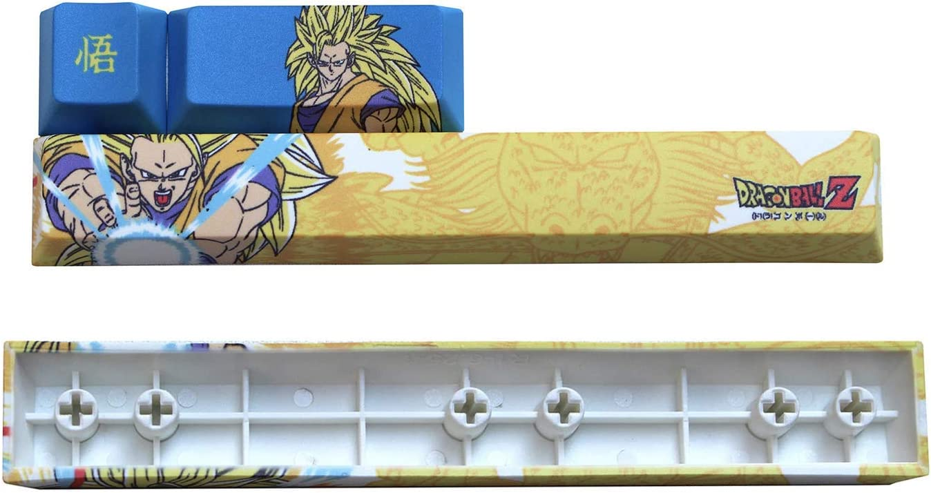 Mugen Custom Goku Spacebar Set Dragon Ball Anime Keycaps for Cherry MX Switches Fits Most Mechanical Gaming Keyboards with Keycap Puller