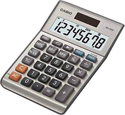 Casio MS-80B - Calculadora de mesa (8 cifras, calcula cambio de ...