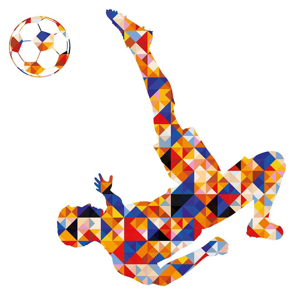Wandtattoo Kinderzimmer Bunter Fussballspieler Wandsticker Junge Madchen Deko Baby Kinderzimmer