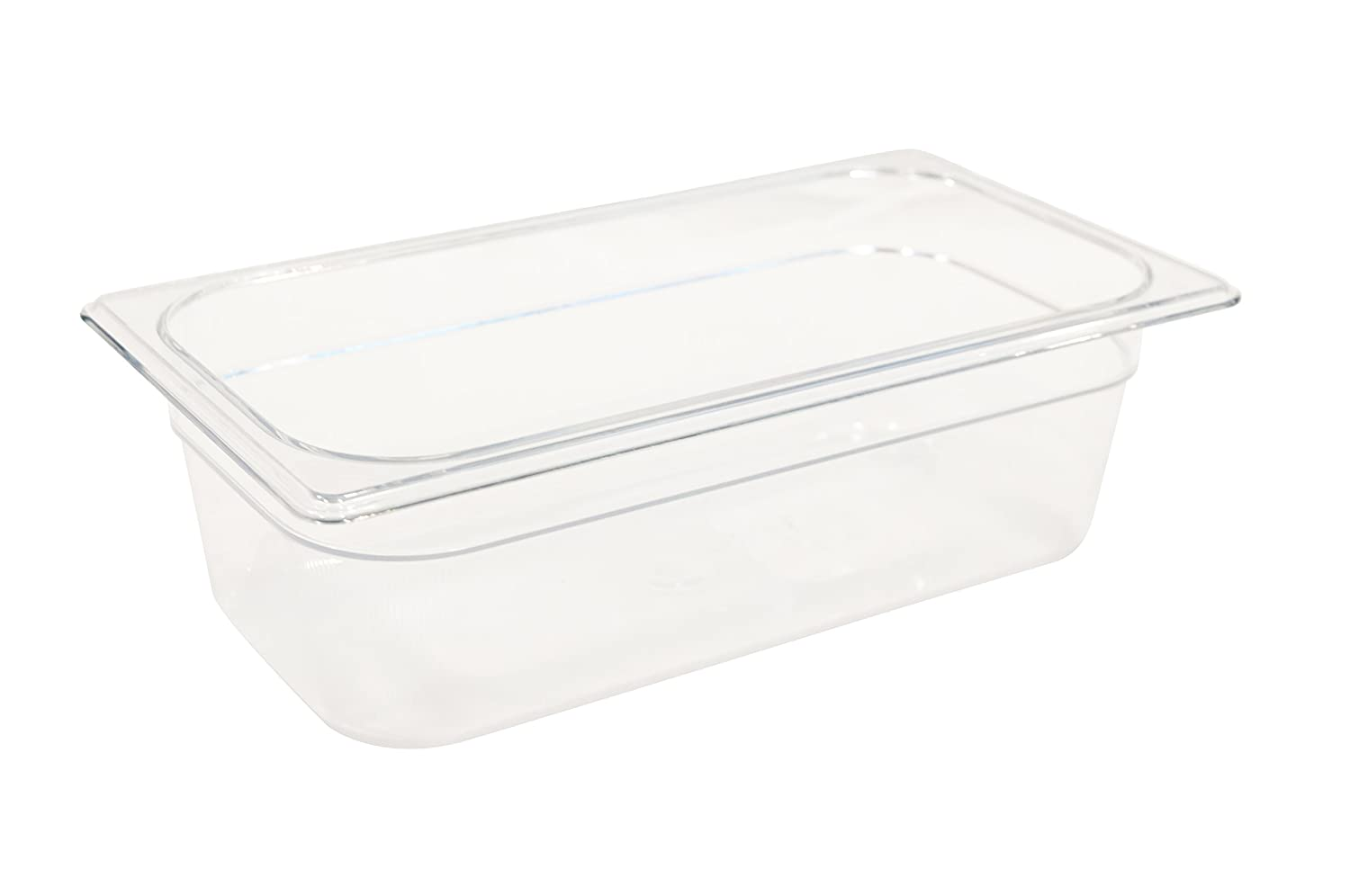 Rubbermaid Commercial Products Cold Food Insert Pan for Restaurants/Kitchens/Cafeterias, 1/3 Size, 4 Inches Deep, Clear (FG117P00CLR)