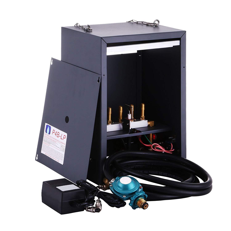 VEVOR Co2 Generator 4 Burner Carbon Dioxide Generator Hydroponic CO2 Electronic Auto Pilot Greenhouse Ignition Liquid Propane LP 2262-9052 BTU 4 Burner