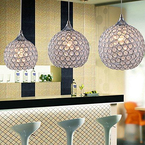 DINGGU Single 1 Light 6 Inch Flush Mounted Mini Size Modern Ball Crystal Pendant Light Chandelier Lamp Fixture