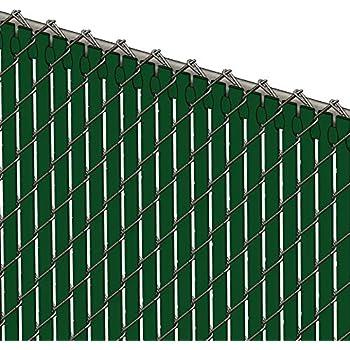 Amazon Com Chain Link Vinyl Privacy Slats 6 High Green