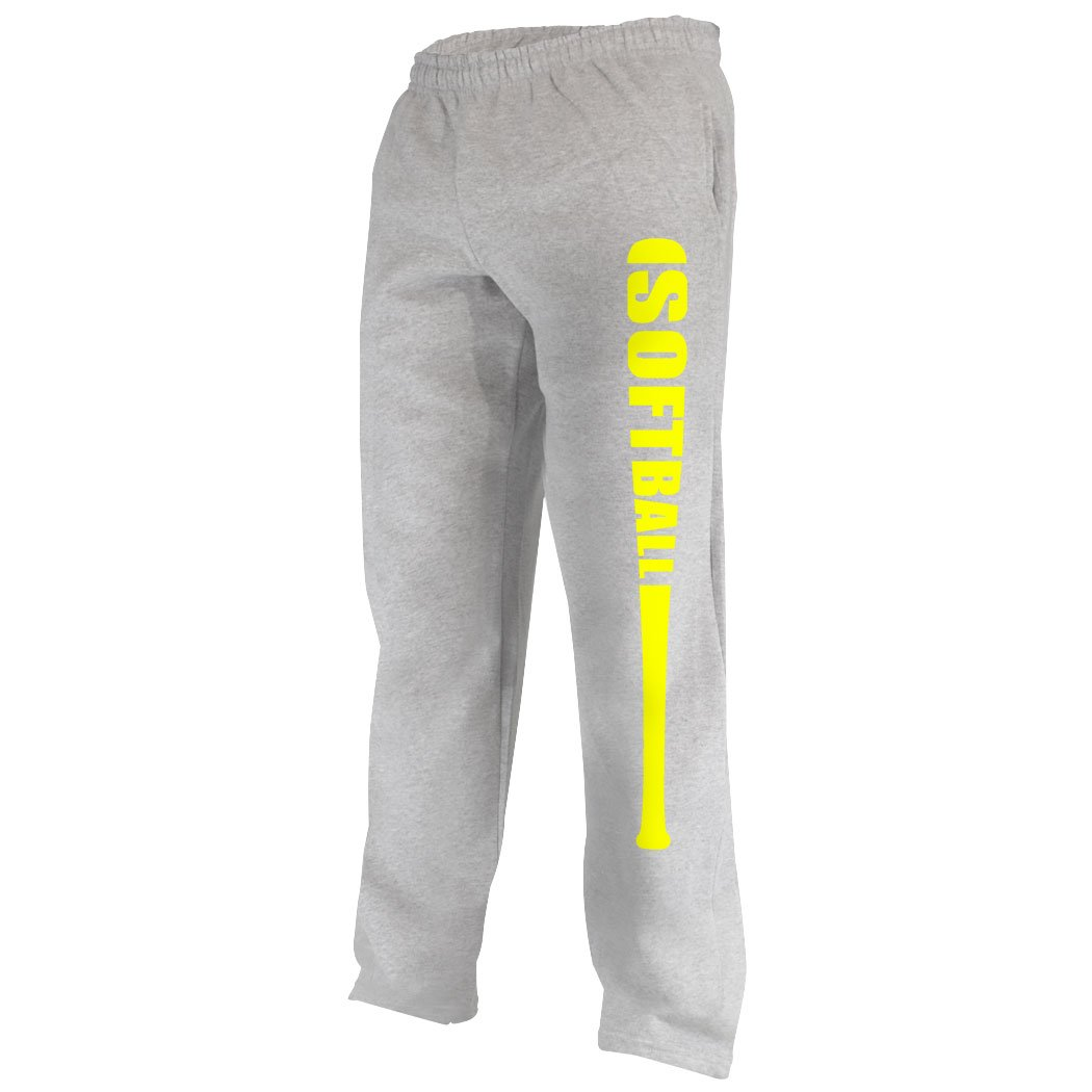 Softball Bat Sweatpants | Softball Apparel by ChalkTalk SPORTS | Multiple Colors | Youth To Adult Sizes sb-02546