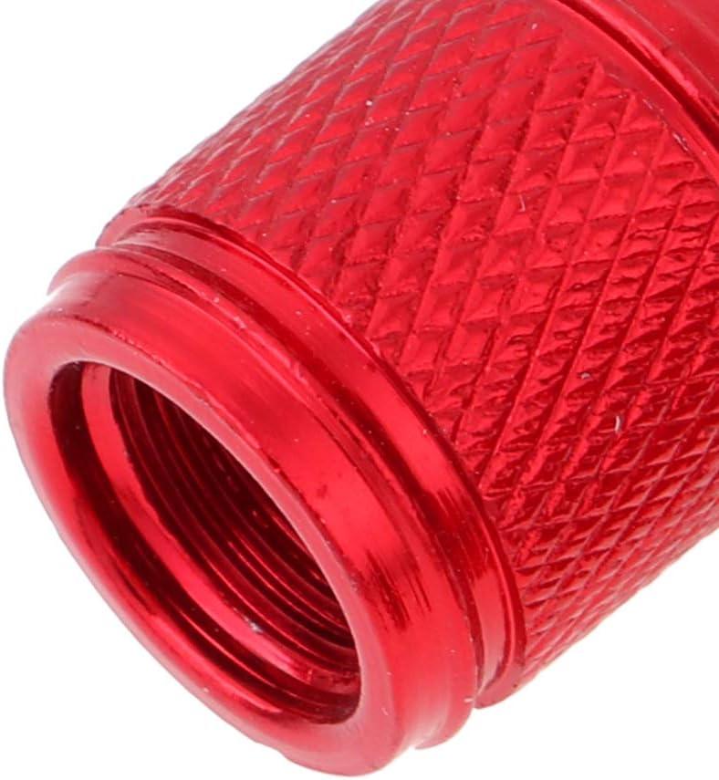 MagiDeal 10Pcs Schwarz Rot Aluminium Fahrrad Schrader Reifen Luftventil Staubkappe