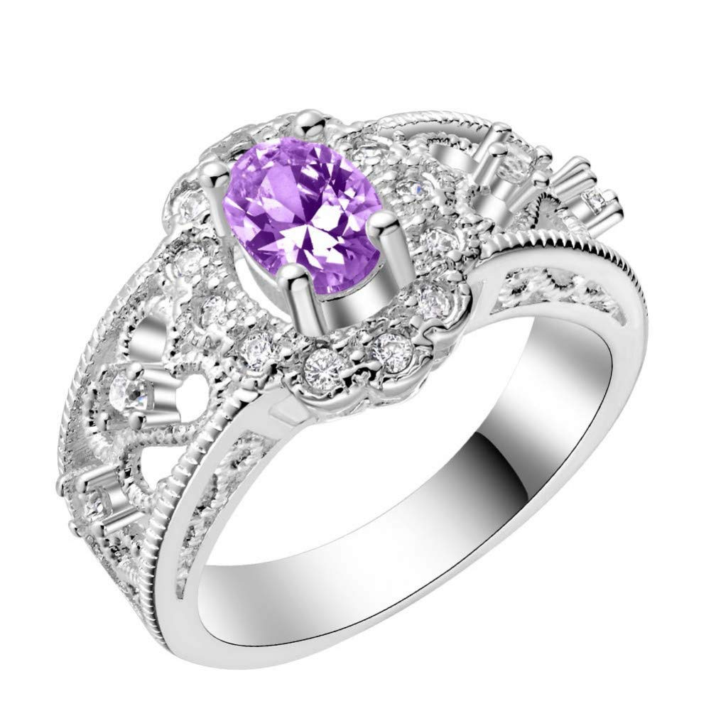 HCBYJ Lady ring 925 Silver Plated Ring Jewelry Ladies Fashion Jewelry ringJoint Ring Finger Ladies Ring Jewelry