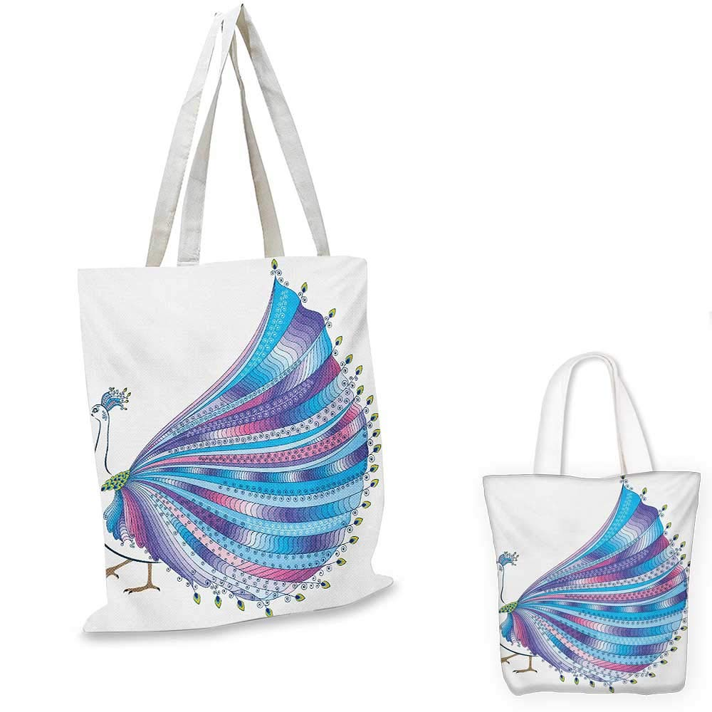 Animal canvas messenger bag Elephant Attached to Colorful Baloons in Sky Geometric Paper Effect Polygonal Art canvas beach bag Multicolor 12x15-10