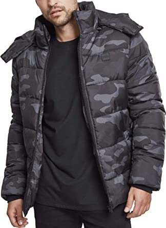 7737c8c73052b Urban Classic Men's Hooded Camo Puffer Jacket, Mehrfarbig (Darkcamo 00707),  Small