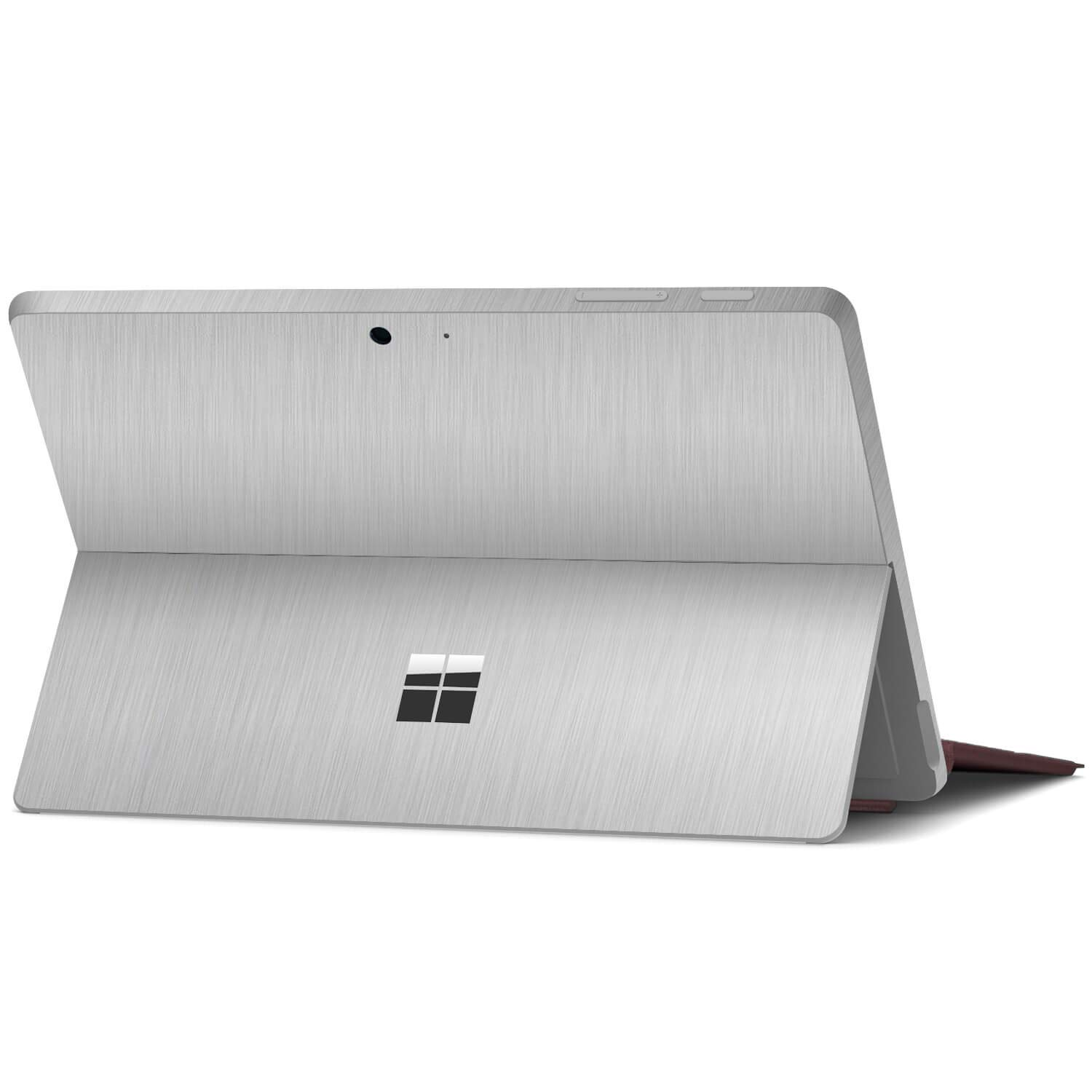 Textured Skin Stickers for Microsoft Surface Go Black Leather