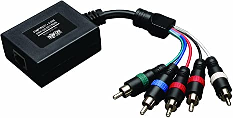Cat6 Extender Tripp Lite Component Video with Stereo Audio over Cat5 Transmitter and Receiver B136-101