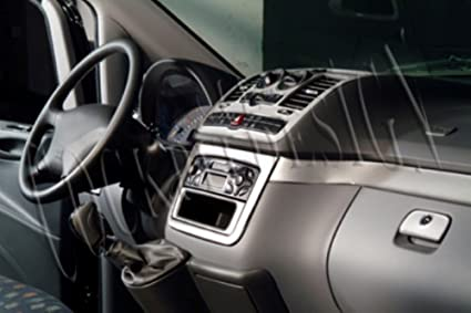 MERIC Decoración de Salpicadero (CD-AL00361) Versión 3D exclusiva, específicamente para el vehículo, 22 Pieza, Color: Aluminio: Amazon.es: Coche y moto