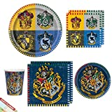 Harry Potter Party Supplies Tableware Pack | Harry Potter Lunch Napkins, Paper Dinner Plates, Dessert Cake Plates, Beverage Napkins and Cups | Perfect Bundle for Birthday Party, Adult Men Boyfriend Husband Teen Birthday | Licensed, Best Value | Serves 16