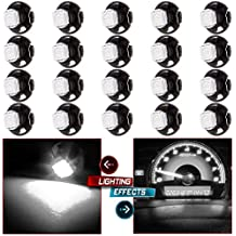 CCIYU 20 Pack T4.7 White 5050-SMD LED Neo Wedge A/C Climate Heater Lights 12V For 2001-2012 Dodge Ram 1500 Van Intrepid Dakota Caravan Grand Caravan Ram 5500 4500 3500 Van 3500