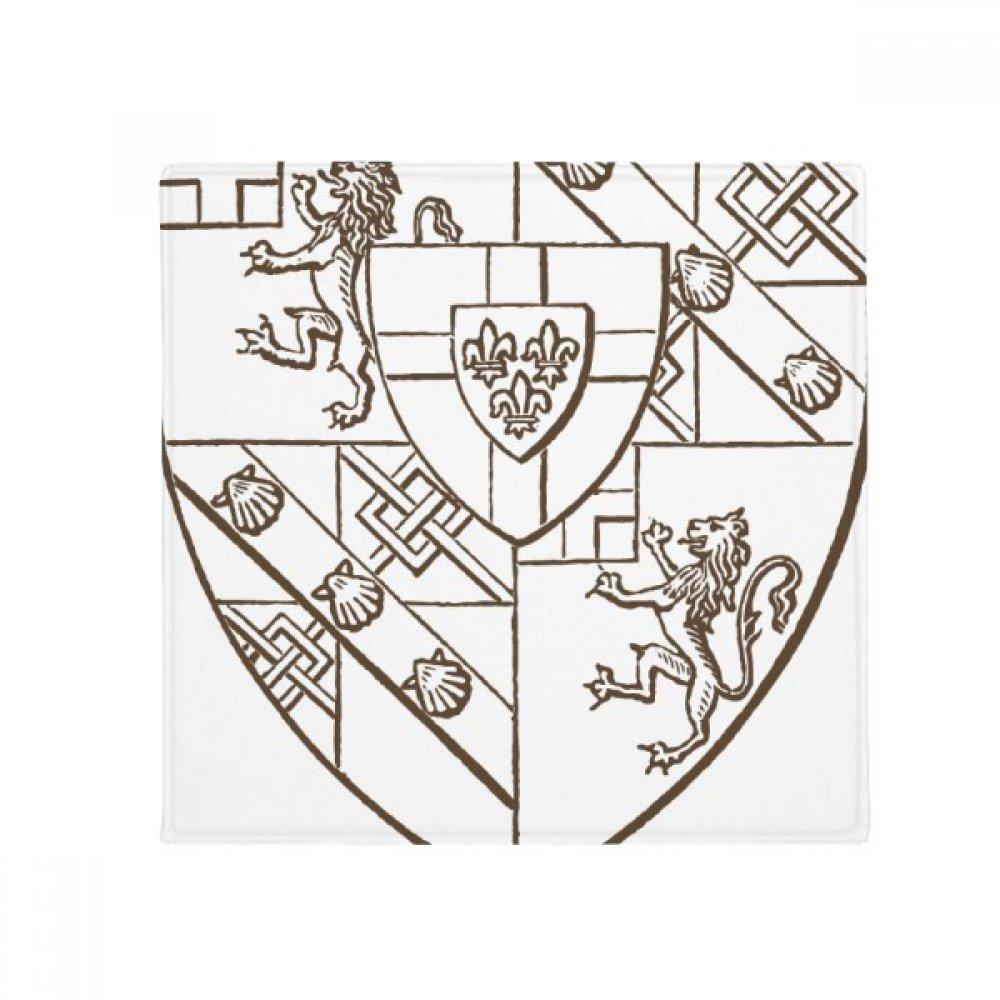 DIYthinker Baroque Lion Shell Shield Illustration Pattern Anti-Slip Floor Pet Mat Square Home Kitchen Door 80Cm Gift