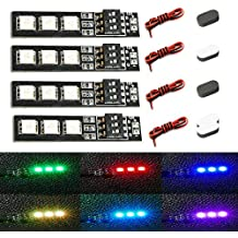 4PCS RGB LED Light Board Strip 12V for RC Drone, RC Car and DIY ( MATEKSYSTEM ) + 4PCS Sponge Landing Pad