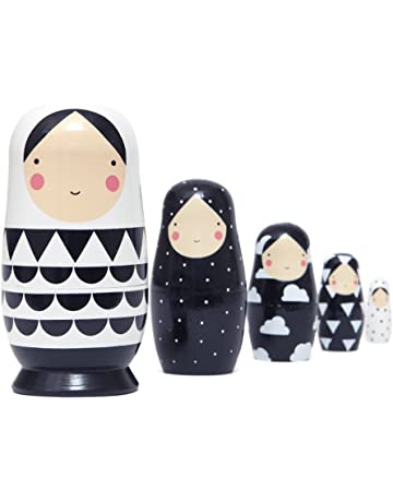 Muñecas rusas Matroschka – negro & blanco