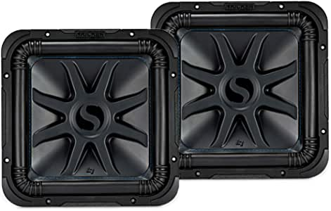Kicker 44L7S124 Car Audio Solo-Baric 12 Subwoofer Square L7 Dual 4 Ohm Sub Pair (Renewed)