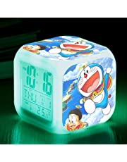 dongwenchao1104 Despertador De Dibujos Animados, Regalo para Niños, Despertador Pequeño Led Colorido De Doraemon, Despertador Multifuncional