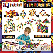 IQ BUILDER | STEM Learning Toys | Creative Construction Engineering | Fun Educational Building Toy Set for Boy