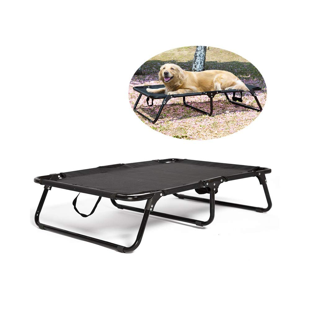 Small Original Elevated Cooling Pet Bed Summer Collapsible Steel Frame Portable Cat Dog Bed Foldable Washable (Size   S)