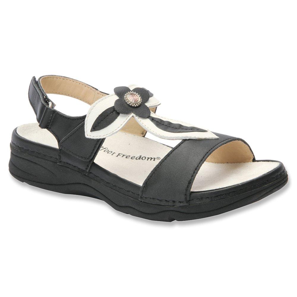 Drew Alana Women's Sandal B00S9WUPAQ 5 XW US|Black-white