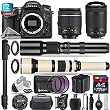 Holiday Saving Bundle for D7100 DSLR Camera + AF-P 70-300mm VR Lens + 650-1300mm Telephoto Lens + AF-P 18-55mm + 500mm Telephoto Lens + 2yr Extended Warranty + 32GB Class 10 - International Version