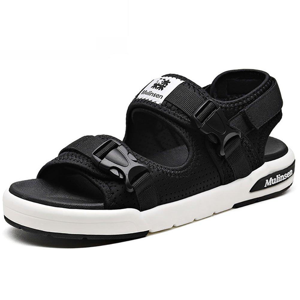 ZJM-sandalia Sandalia ajustable zapatos de playa Man Summer Slipper cinta mágica al aire libre (38-44 tamaño) (Color : Negro, Tamaño : 42) 42|Negro