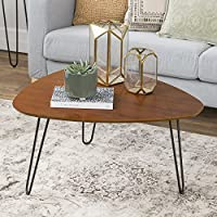 WE Furniture 32 Hairpin Leg Wood Coffee Table - Walnut