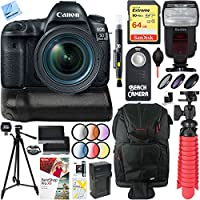 Canon EOS 5D Mark IV 30.4MP DSLR Camera + EF 24-70mm IS USM Lens & Canon BG-E20 Battery Grip Accessory Bundle