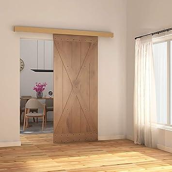 Puerta corredera de armario de aluminio con 1 riel de estilo europeo de 2 m, 91,44 cm, 213,36 cm, color natural: Amazon.es: Bricolaje y herramientas