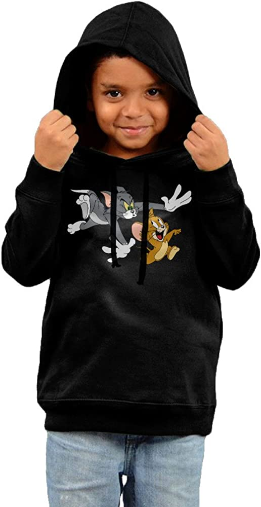 Toddler Geek Tom And Jerry 100% Cotton Long Sleeve Hooded Sweatshirt