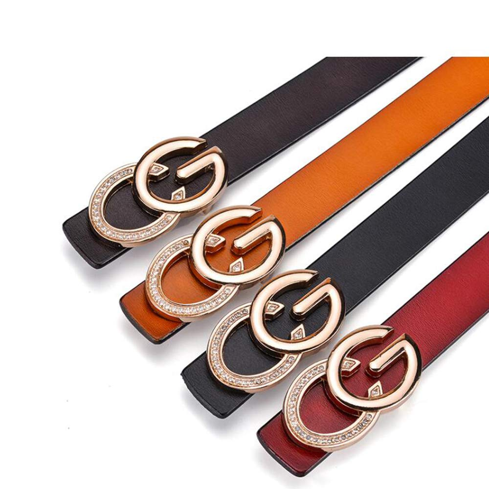 Cintura con Fibbia Decorazione Casual Wear beltblack100cm GAOQINGFENG Nuova Cintura da Donna