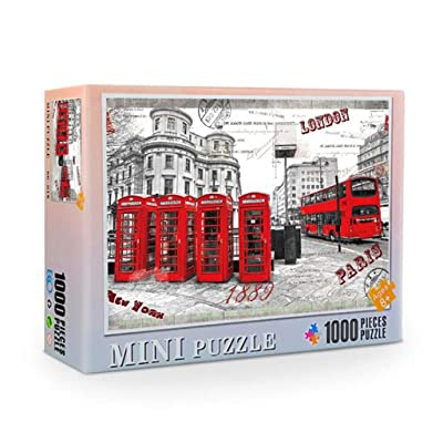 Jigsaw Puzzle for Adults 1000 Piece Micro-Sized Puzzle Game Interesting Toys Mini London Impression Puzzle Children Gifts Home Education: Sports & Outdoors