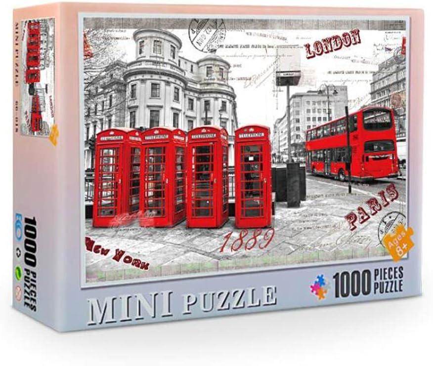 Deajing Puzzle de 1000 Piezas Puzzles para Adultos Jigsaw Puzzle para Adultos Mini Rompecabezas del Paisaje Juguetes Niños Puzzles Juego de Rompecabezas Juego de Padres e Hijos