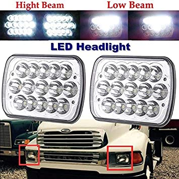 "Pair LED Headlights 7x6/"" 5x7/"" Sealed Beam for Oldsmobile Bravada H6052 H6014"
