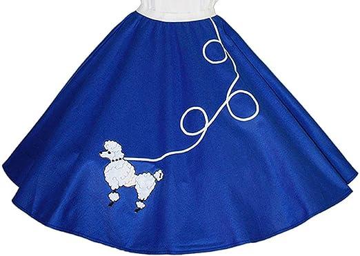 """5 Pc Adult AQUA BLUE 50/'s Poodle Skirt Outfit Sz Large Waist 35/""""-42/"""" Length 25/"""""""