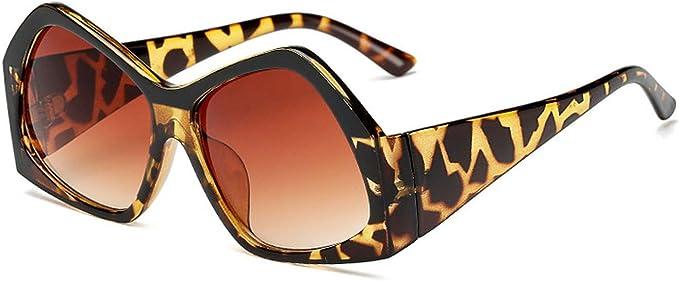 Women Sunglasses Oversized Brand Designer Big Frame Vintage Leopard Black Frame