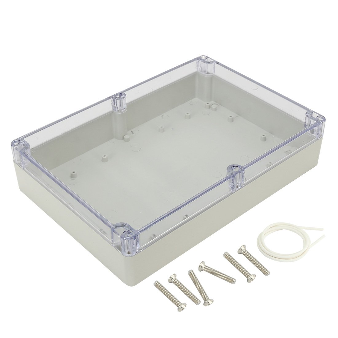 uxcell 10.4''x7.2''x2.4''(263mmx182mmx60mm) ABS Junction Box Electric Project Enclosure Clear