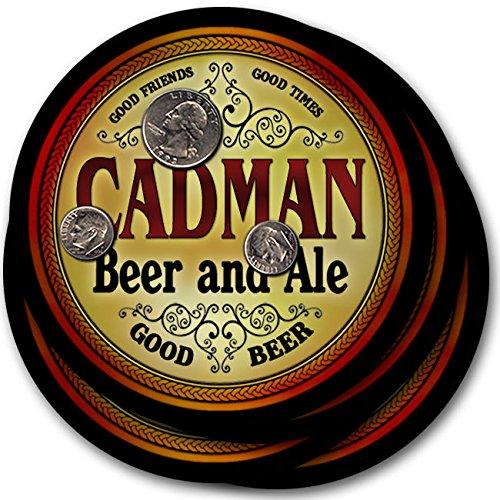 Cadmanビール& Ale – 4パックドリンクコースター   B003QX6ZRA