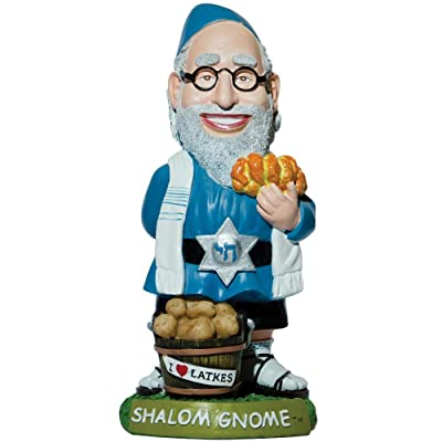 Shalom Jewish Gnome Rabbi Indoor/Outdoor Handpainted Weather-Resistant Resin: Home & Kitchen