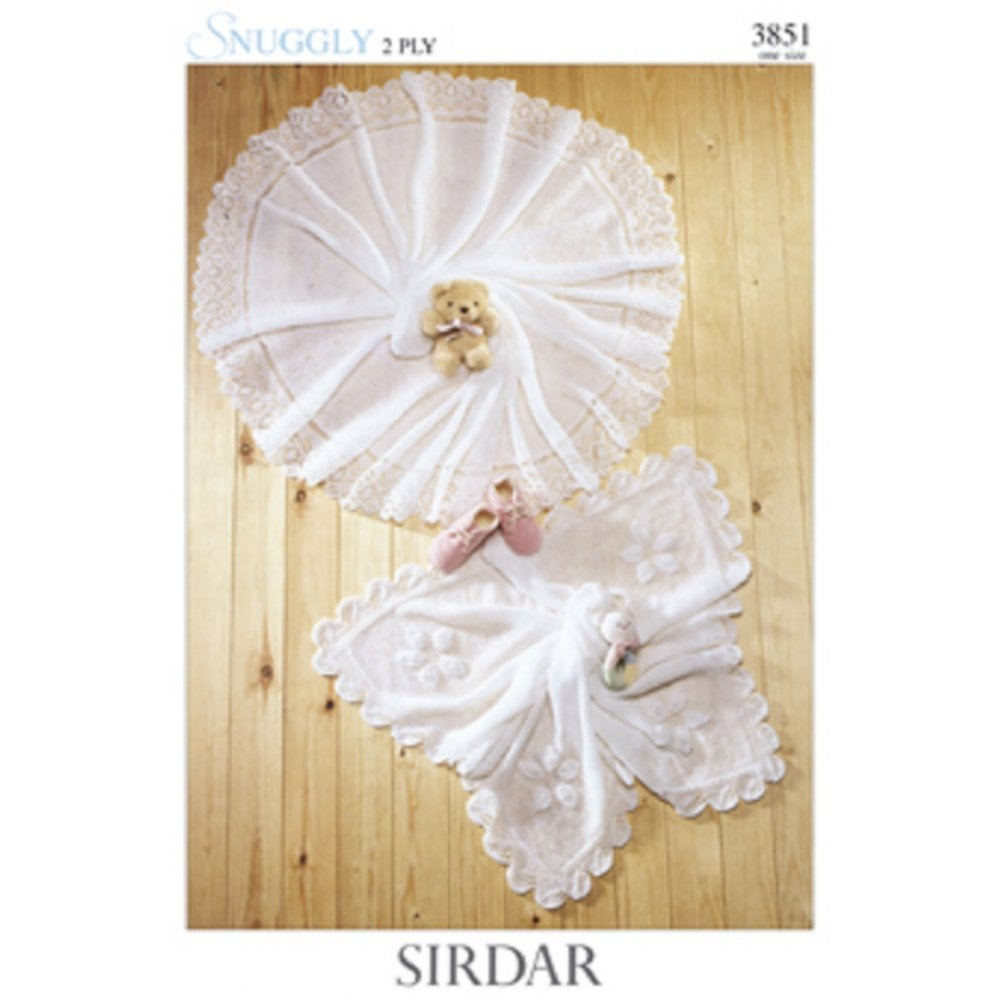 Sirdar Baby 2 Ply and 3 Ply Shawls Knitting Pattern 1452 by Sirdar ...
