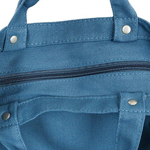 ililily Disney Mickey Maus als Druckmotiv Solid Farbe Baumwolle Kanevas Umhängetasche Tasche Blue icj6Nq1