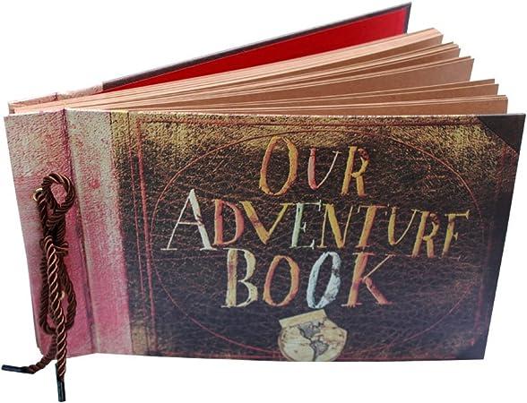 Our Adventure Book Album Scrapbook Libro de Invitados Boda Aniversario Regalo del d/ía de San Valent/ín AIOR /Álbum de Fotos Autoadhesivo Vintage DIY /Álbum de Recortes Scrapbooking