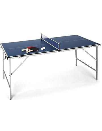 c8821a3cb Klarfit King Pong Mesa de Ping-Pong Plegable (Recubrimiento Resistente a  Golpes