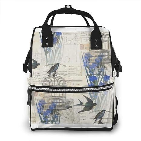 Pañalera floral de París con diseño de jaula de pájaros, color ...