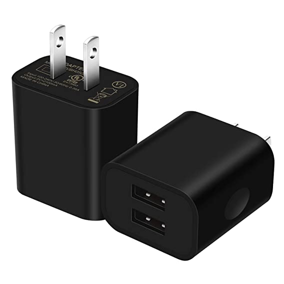 hot sale online 41021 2ee8c USB Wall Charger 5V/2.1A [2-Pack] Dual USB Home Travel Plug Charger Power  Adapter Compatible with iPhone 8/8 Plug, 7/7 Plus, 6s/6s Plus, Samsung ...