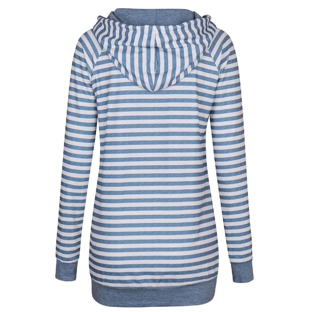 Camisas Mujer, BBestseller Otoño e Invierno Blusas para Mujer Vaquera Sexy Tops Camisetas Mujer Raya Manga Larga Blusas Sudadera con Capucha: Amazon.es: ...