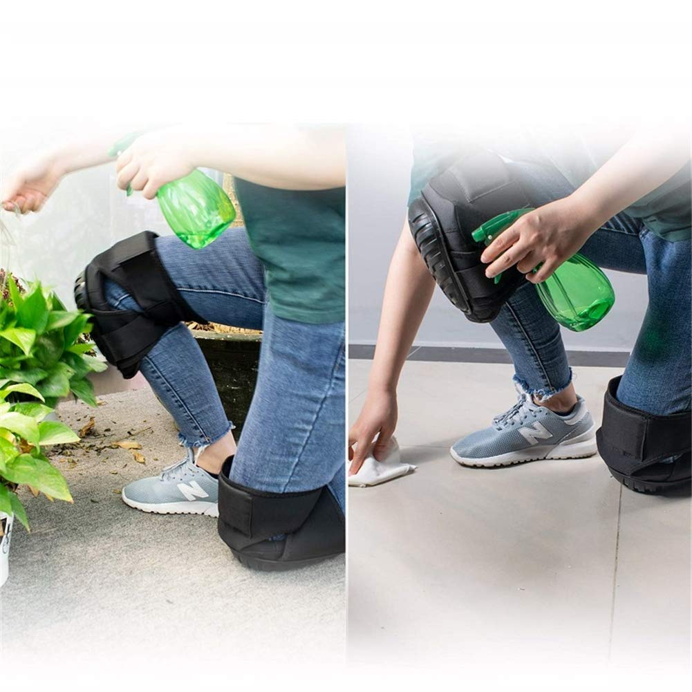 2 Pair Heavy Duty Knee Pads, for Cleaning Flooring and Garden, for Work, Construction Gel Knee Pads Tools by WLIXZ (Image #5)