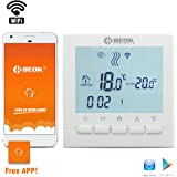 Beok Thermostat BOT-313 WiFi Gas Boiler Thermostat Programmable LCD Room Temperature Controller, Free APP! Remote Online Control by Smartphone, AC220V 3A, Pack of 1